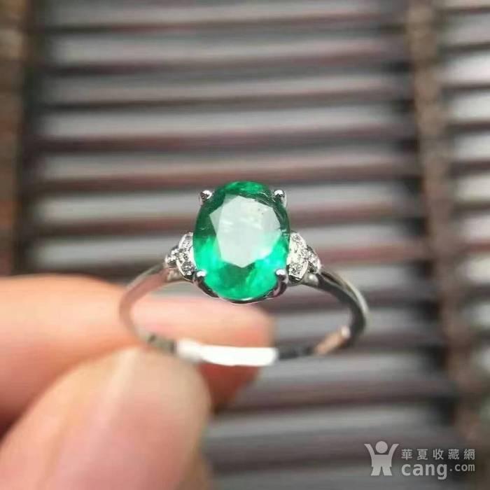 天然祖母绿戒指图1