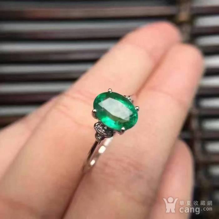 天然祖母绿戒指图2