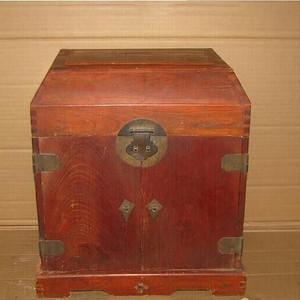 明式榉木(血榉)官帽箱