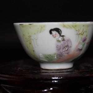 [联盟]粉彩描金茶杯