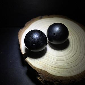 【联盟】XJ纯黑料,20mm佩珠一对
