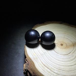 【联盟】纯黑不透14mmXJ佩珠一对