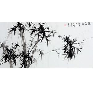 【联盟】国画原作;田贺喜大四尺国画-墨竹