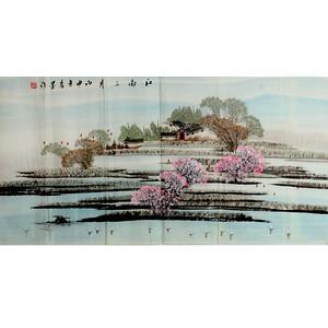 【联盟】李墨山水画---国画:江南三月