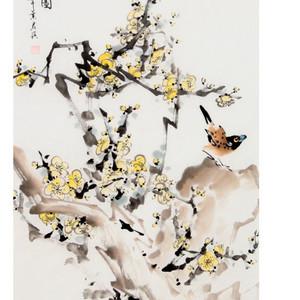 【联盟】叶君淇花鸟画-国画:鸣春图