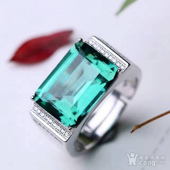 天然绿水晶戒指