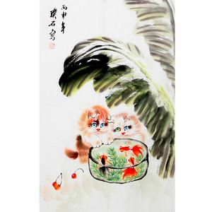 【联盟】璞石动物画:猫-国画