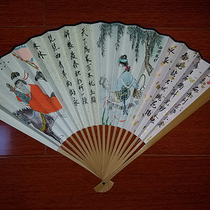 【联盟】柯继志——四大美女人物故事精品成扇