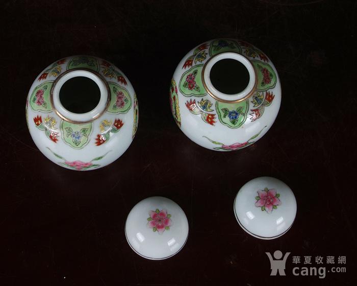 景德镇陶瓷 文革瓷器 厂货 收藏 粉彩铜钱花图宝珠坛一对图6