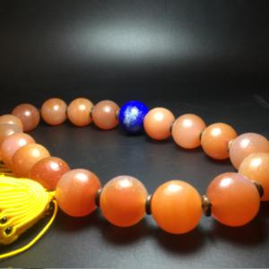 【精品古珠】清代大尺寸老玛瑙珠18子手持一串