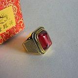 24K红宝戒指