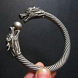 老银镯   双龙戏珠