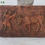 宋 朱砂彩绘牧牛图墓室砖2