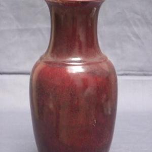 联盟 郎窑红釉广口瓶