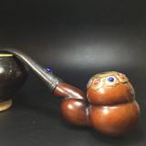 【回流有趣】民国时期葫芦制大烟斗一个