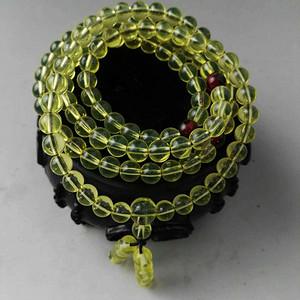 【联盟】波罗的*珀108颗圆珠腕珠手钏