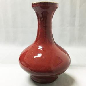 【联盟】清祭红釉32厘米大瓶