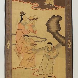 【季度大拍】缂丝人物纹挂饰