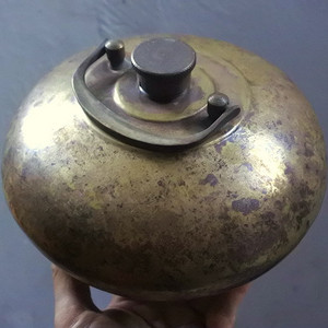 【金牌】包浆一流,铜暖手壶
