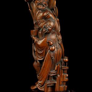 清黄杨木八仙人物雕件