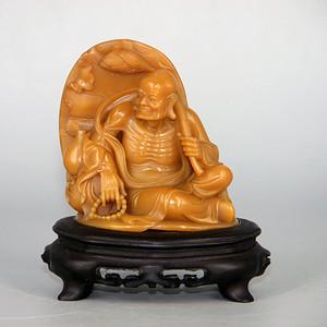 老寿山石雕罗汉像