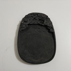 (联盟)八九十年代手工雕刻龙纹端砚