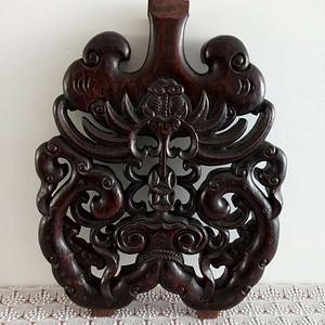 【联盟】雕工不错的花梨木老花板一片