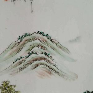 【联盟】民国大开门山水风景瓷板