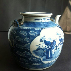 【金牌】清同治光绪人物大号茶壶