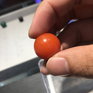 天然极品樱红南红单珠 19.5mm 10.6g