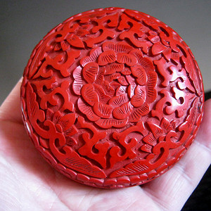 (联盟)回流50年代剔红印泥盒
