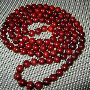 (联盟)鸡血红小叶紫檀大珠108佛珠