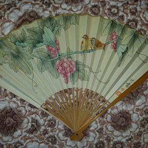 【金牌】苏州工笔花鸟画家:应竹鸣手绘双喜图,背面著名画家顾逸:题书法