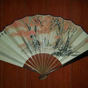 【金牌】柯继志——霜叶红于二月花诗意图成扇