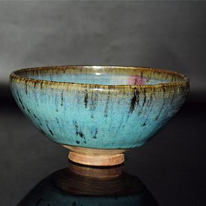 元钧窑天蓝釉紫斑大碗