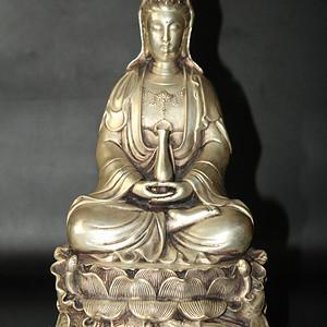 珍藏藏银观音菩萨像