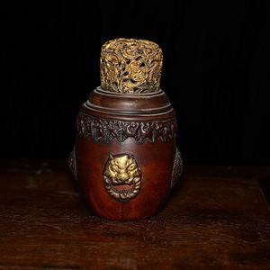 文玩匏器 葫芦器 兽头双耳 蛐蛐罐