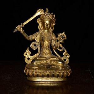 铜鎏金藏传 度母造像 (造像精美..开脸传神..)