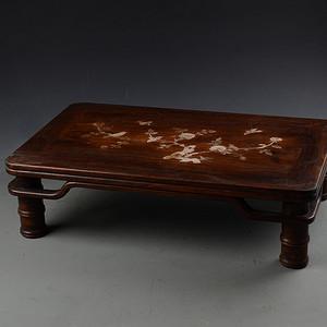 花梨木镶螺钿 花鸟图 案桌 炕桌