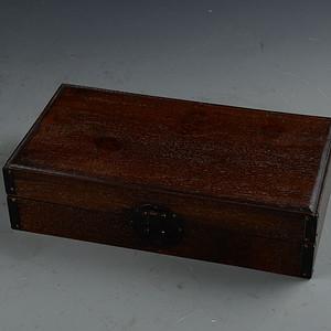 花梨木鬼脸纹素面 珍宝箱 藏书盒