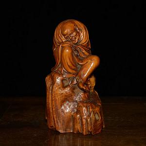 黄杨木 沉思罗汉 ·木质细腻·雕工工整