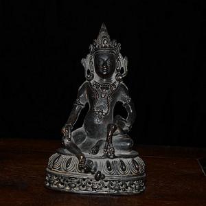 铜藏传佛像 黄财神造像