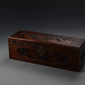 花梨木海水八宝纹 画盒