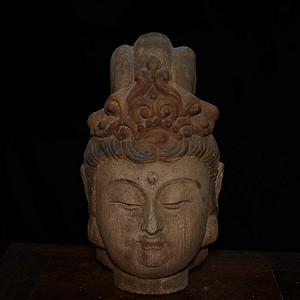 木雕彩绘  观音像