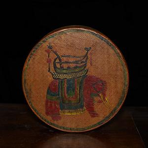 漆器描金太平有象 朝珠盒