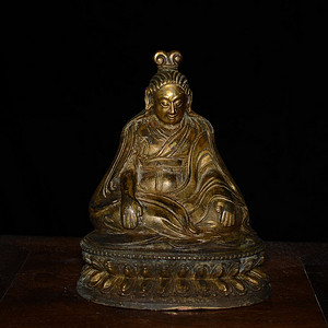 铜鎏金藏传 佛像 造像(造像精美..开脸传神..)