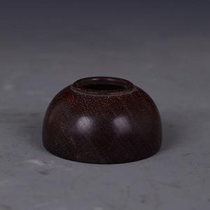 红木 素面 水盂