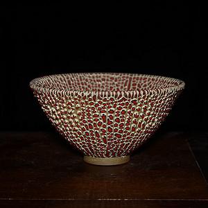 瓷器 珍珠釉 斗笠碗
