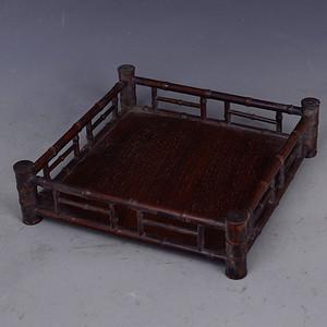 花梨木竹节 镂空托盘