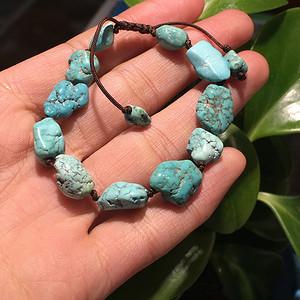 天然原矿松石随形手串11g 约11mm